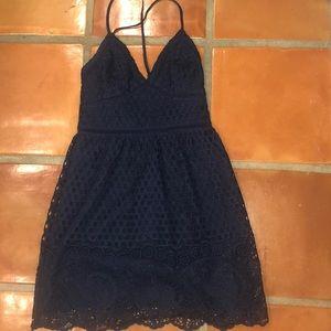 Navy blue lace dress- ABERCROMBIE